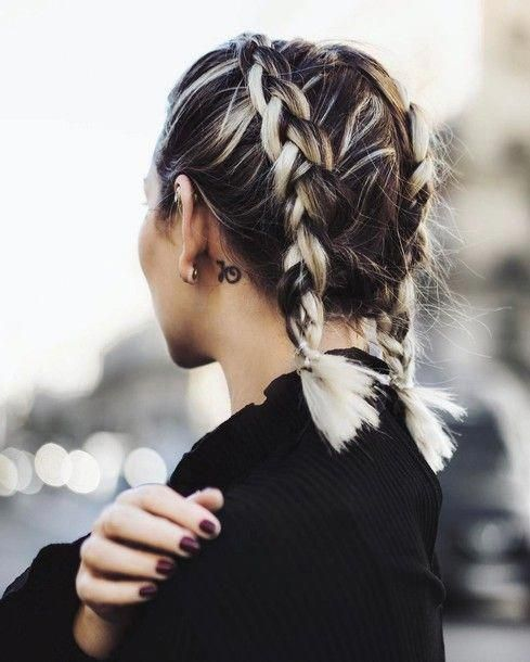 Pigtails Short braided Hairstyle