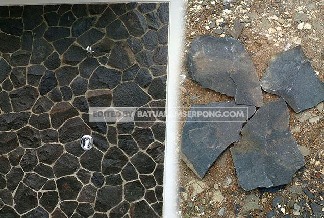 batu alam acak templek hitam