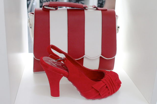 Lola Ramona red suede shoe