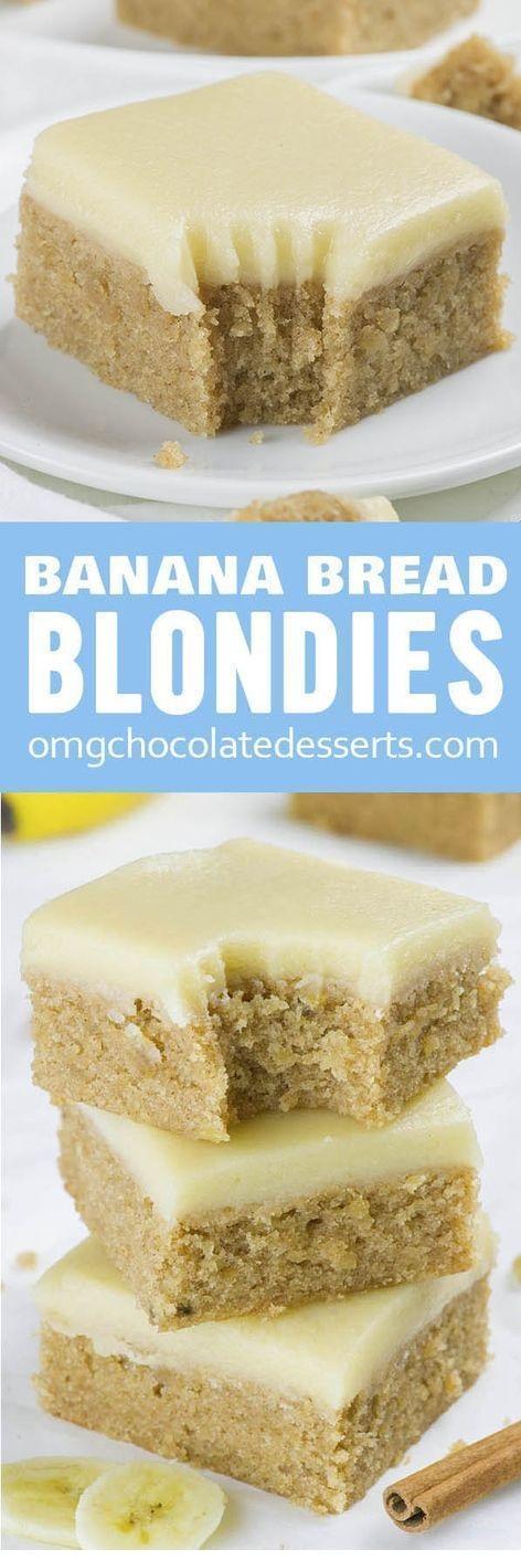 Banana Bread Blondies