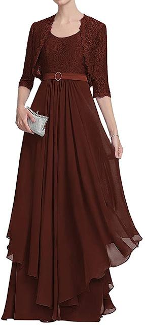 Elegant Brown Mother of The Bride Dresses