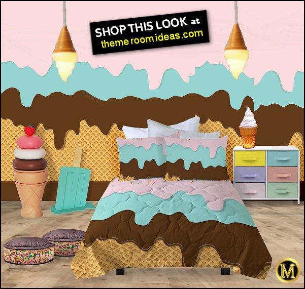Melting Ice Cream Bedding  Ice Cream Sandwich Shaped Pillow  Melting Popsicle Ice Cream Decoration Prop