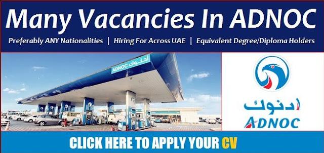 ADNOC Oil  Gas Jobs Vacancy in UAE 2019 ||APPLY NOW||