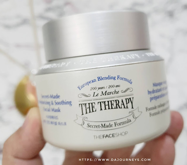 Review THE FACE SHOP The Therapy Secret-Made Moisturizing & Soothing Facial Mask