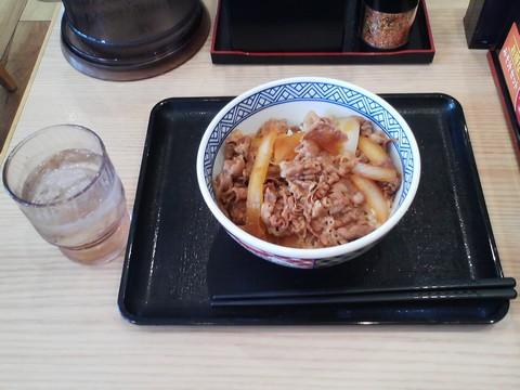 牛丼(並盛)¥380-2 吉野家稲沢市役所前店