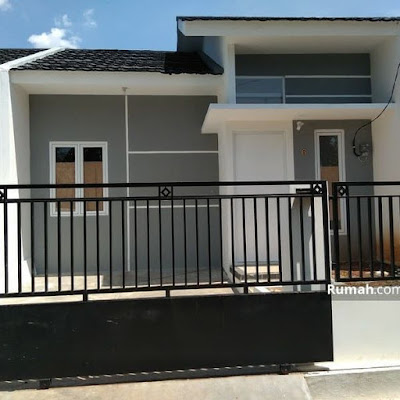 Model rumah minimalis tampak depan dengan batu alam