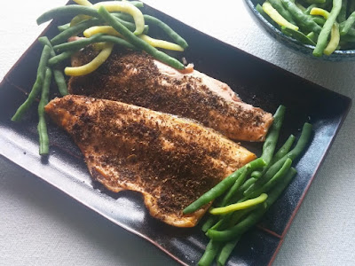 Broiled Trout with Furikake