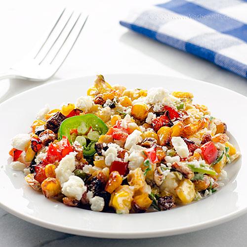 Mexican Street Corn (Esquites) Salad