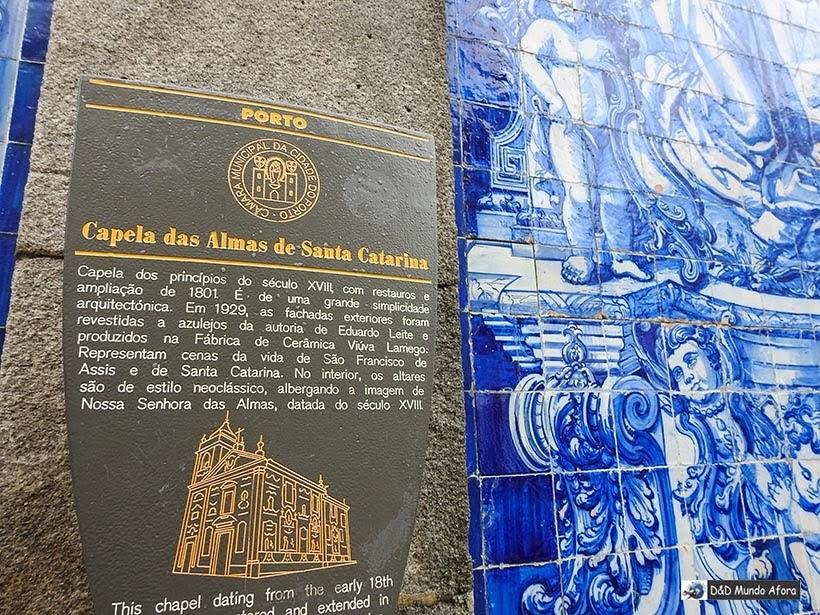 Detalhe da Capela das Almas - O que fazer no Porto, Portugal