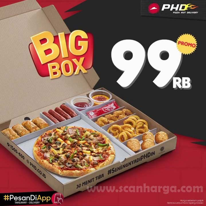PHD Gajian Promo BIG Box Pizza 99 Ribu Periode 25 Juli - 2 Agustus 2020
