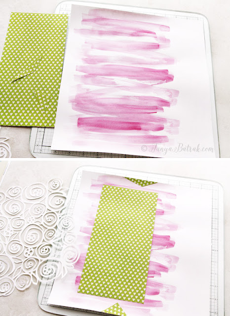 Scrapbooking tutorial: watercolour background