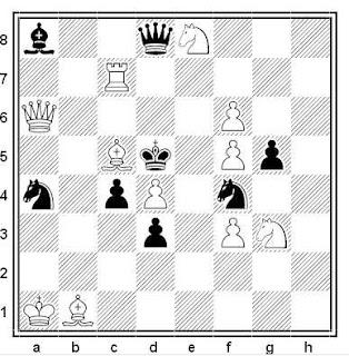 Problema de mate en 2 compuesto por Edith H. Baird (Hampstead and Highgate Express, 1901)