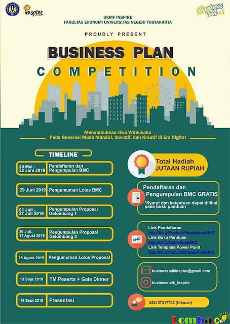 Lomba Business Plan Nasional BusinessTalk 5 2019 Untuk Mahasiswa