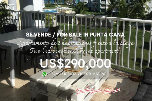 Vendo Apartamento con playa y piscina en Punta Cana