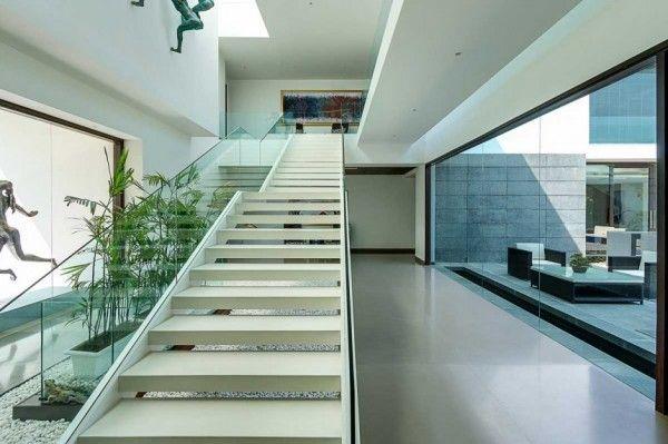 staircase window glass design