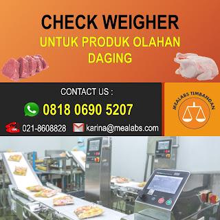 Checkweigher untuk Produk Olahan Daging