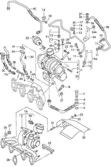 TURBOCHARGERS-AUTOMOTIVE: 54399880017 BORG WARNER