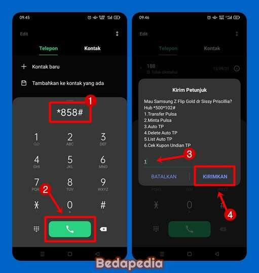 Cara Mentransfer Pulsa Telkomsel Via Panggilan USSD.1