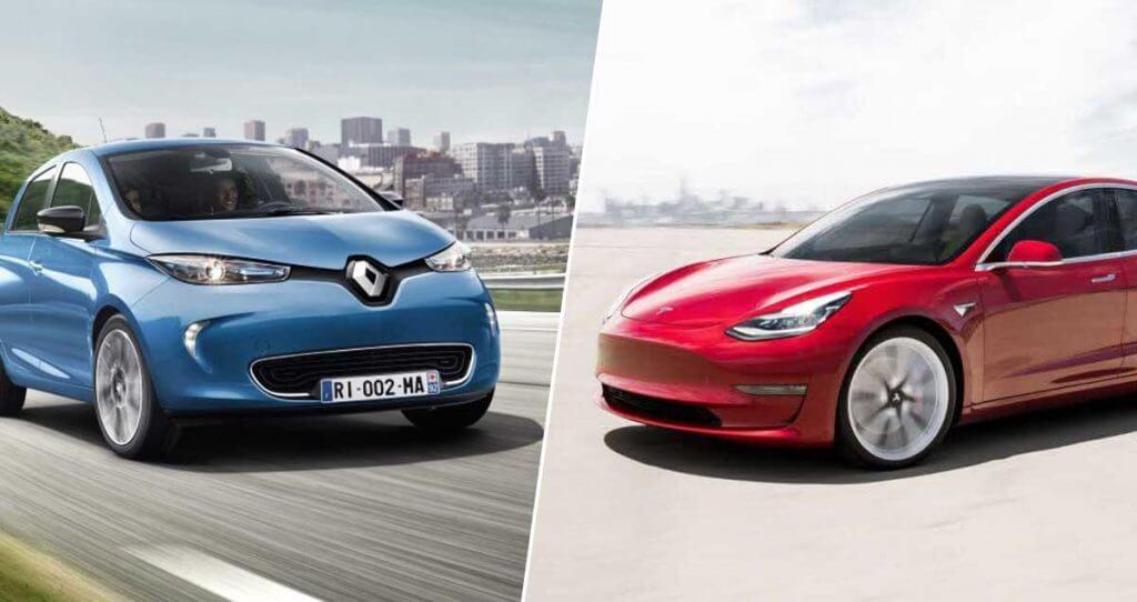 Renault Zoe y Tesla Model 3