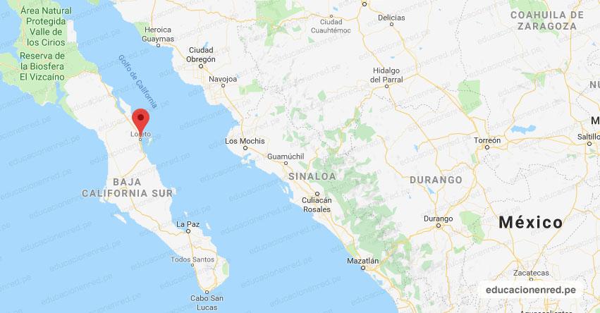 Temblor en México de Magnitud 5 (Hoy Miércoles 20 Enero 2021) Terremoto - Sismo - Epicentro - Loreto - Baja California Sur - B.C.S. - SSN - www.ssn.unam.mx