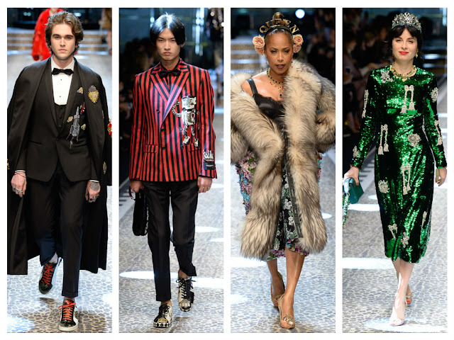 milan fashion week, mfw, dolce & gabbana, desfile, runway, influencers, instagramers, cristina bazan, song of style, aime song, fashion bloggers, youtubers, domenico gabbana, stefano dolce