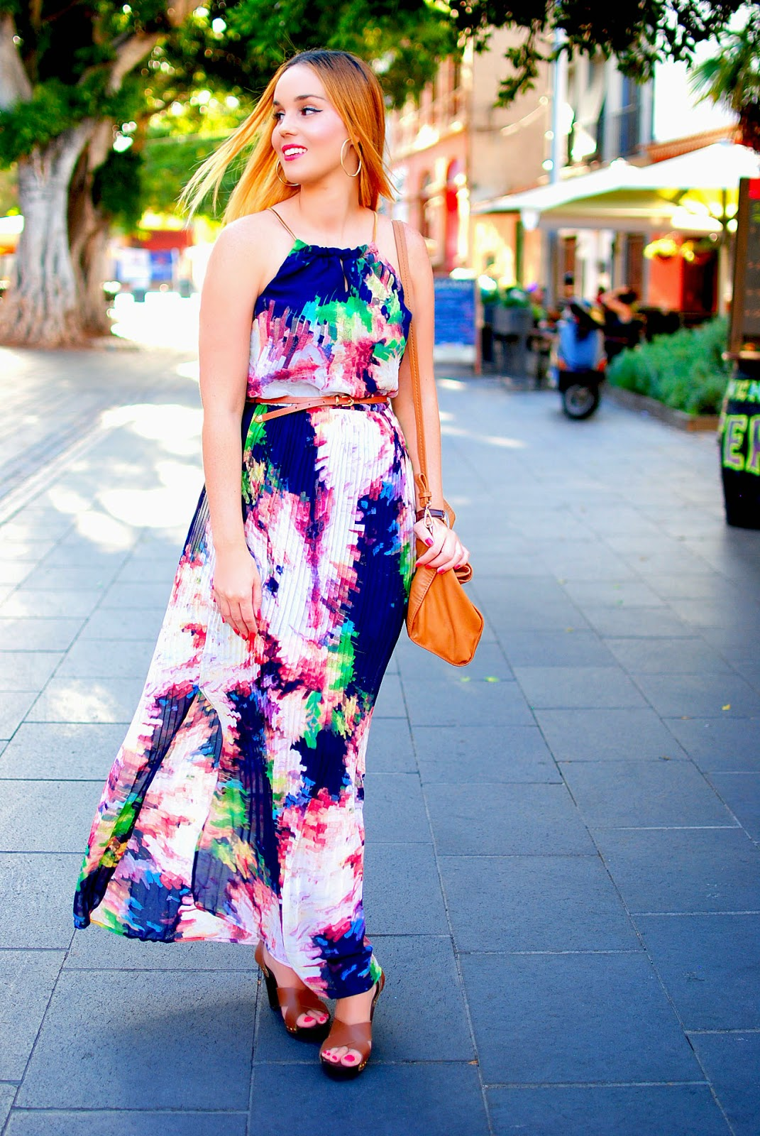 nery hdez, quiz clothing,maxi dress, primark, floral pleat maxi dress