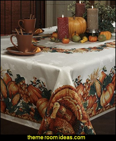 Benson Mills Harvest Splendor Engineered Printed Fabric Tablecloth