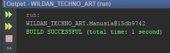Contoh pemanggilan objek tanpa method toString