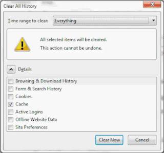 Cara Membersihkan Sistem dan File Sementara Internet Melalui Browser.