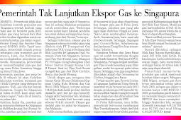 The government does not resume gas exports to Singapore