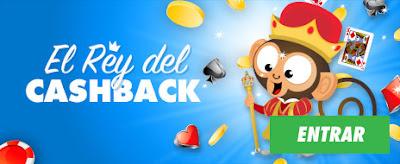 botemania 20 euros promoción el rey del cashback 2-30 marzo
