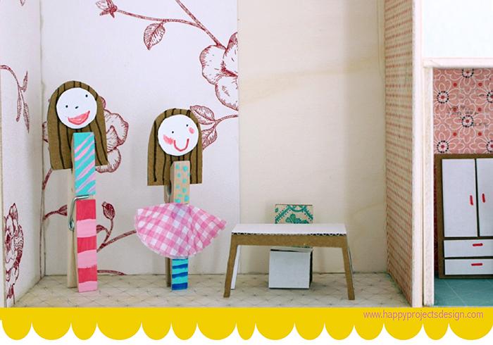 DIY muñecas con pinzas de la ropa