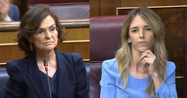 El repaso de Carmen Calvo a Álvarez de Toledo en el Congreso