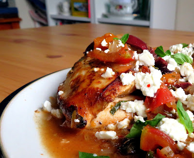 Greek Chicken with Tomatoes & Feta