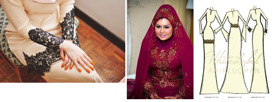 amir luqman nikah dress