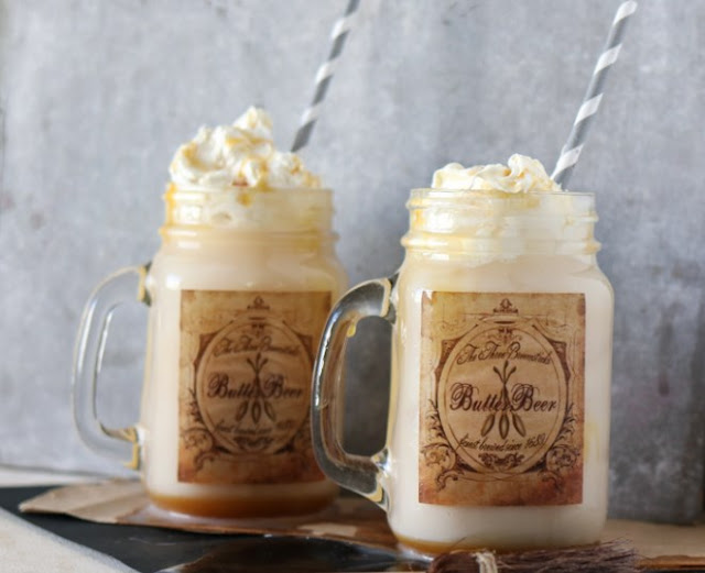 Homemade Butterbeer Floats #drinks #kidfriendly