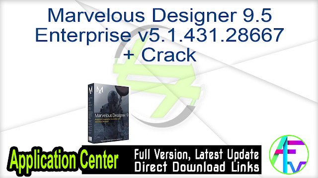 Marvelous Designer 9.5 Enterprise v5.1.431.28667 + Crack