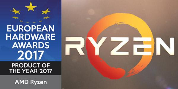 Premios de hardweare europeu 2017. Melhor produto do ano de 2017: AMD Ryzen