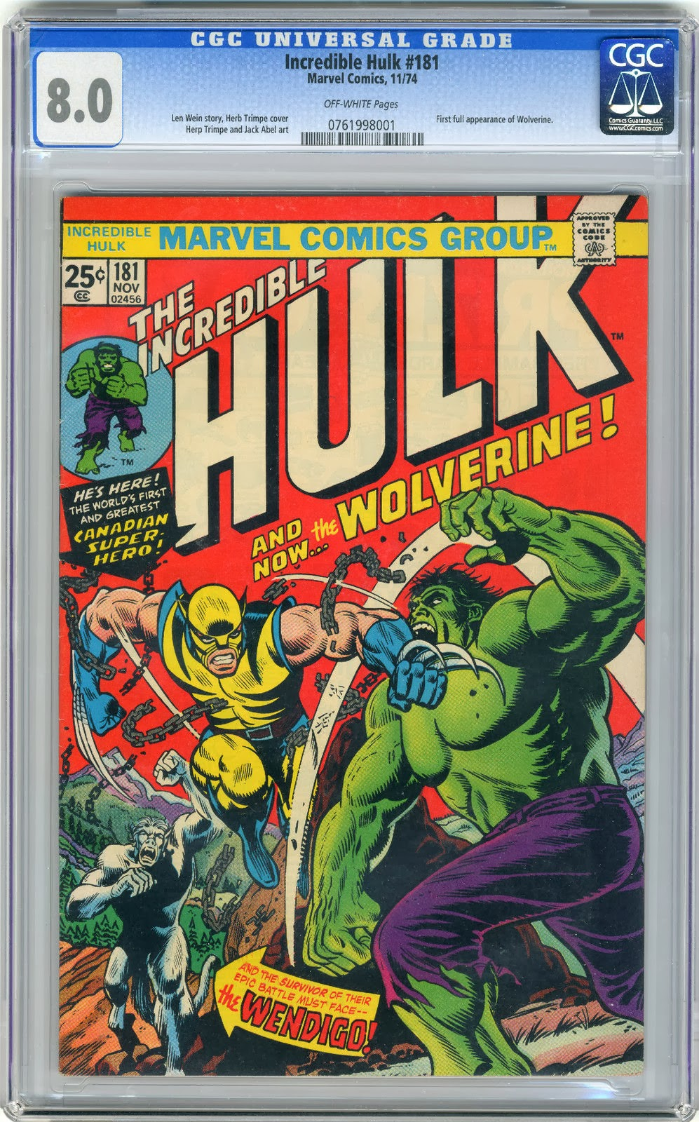 http://www.totalcomicmayhem.com/2014/03/incredible-hulk-181-cgc-80.html