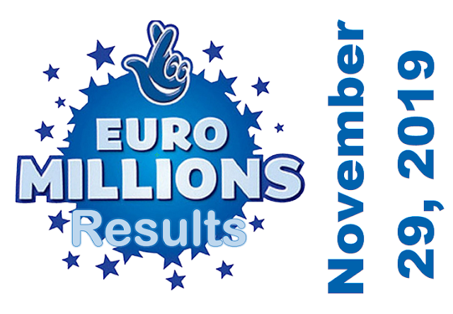 EuroMillions Results for Friday, November 29, 2019