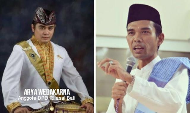 """Ditolak Anggota DPD Asal Bali, Safari Dakwah Ustad Abdul Somad di Bali """"Dibackup"""" Kodam Udayana"""