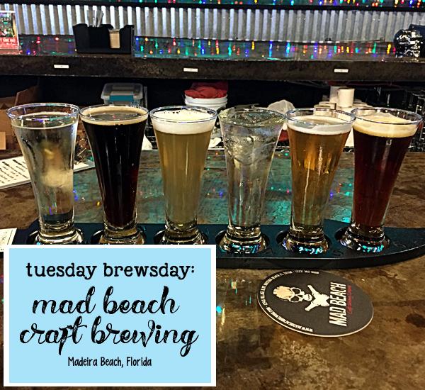 flight of beer at Mad Beach Brewing