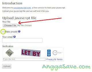 Menghosting script d yourjavascriptcepat dan mudah serta gratis. Berikut ini langkah-langkah hosting file js di yourjavascript.com