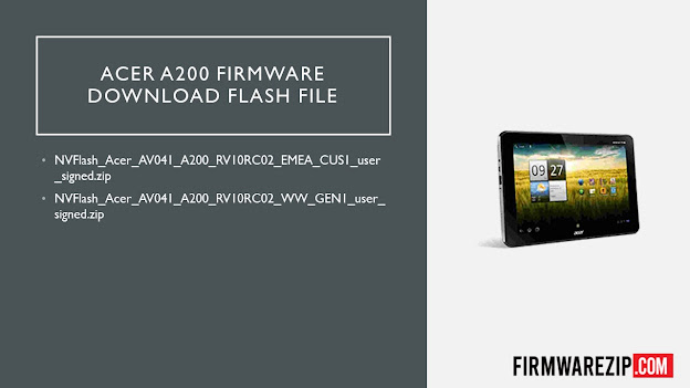 Acer A200 Firmware Download Flash File
