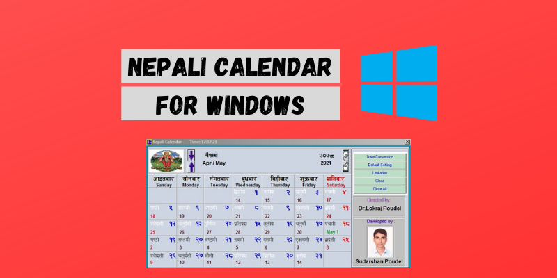 Nepali calendar Download for PC (Windows 7/8/10) (64 bit/ 32 bit)