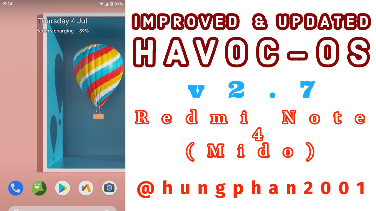 Havoc-OS Official Pie v2 7 ROM for Mido