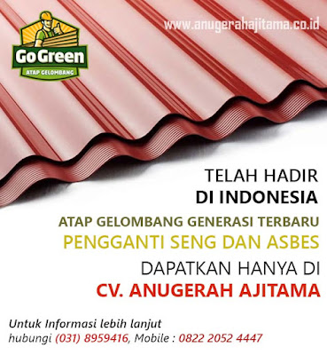 Atap Go Green Warna Merah