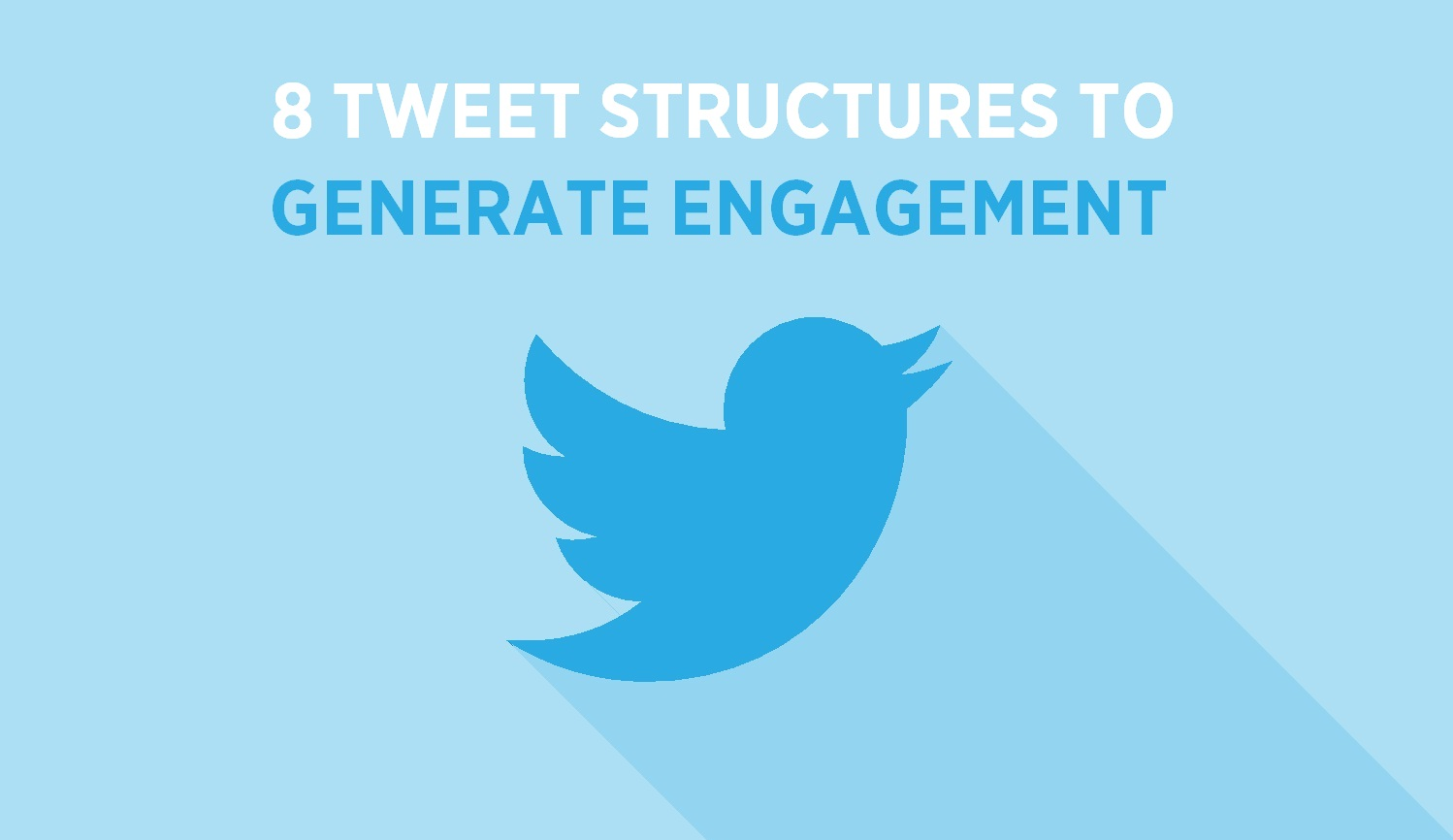 infographic 8 tweet structures to generate engagement