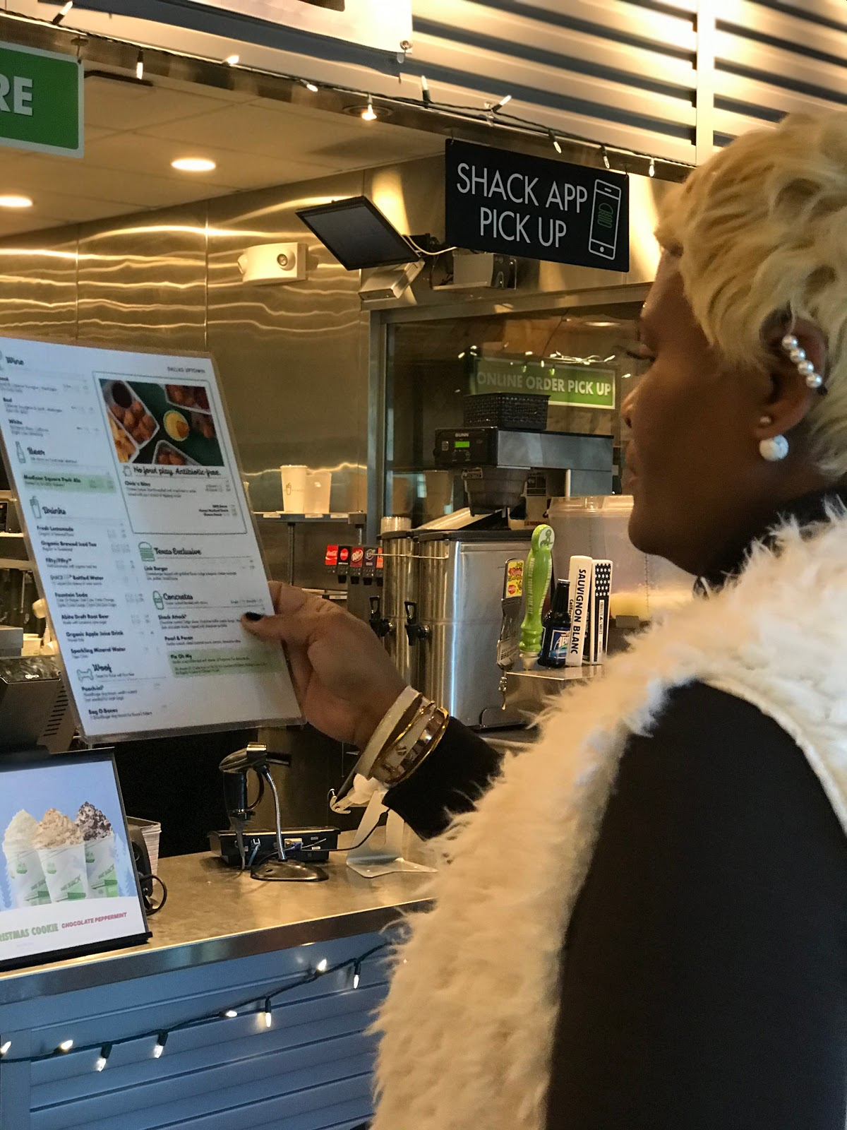 Ordering Food in The City At Shake Shack