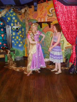 Rapunzel's original meet'n'greet in Disneyland